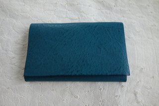 UN-SYMMETRY ステッチレス一枚革 名刺入れ (ミネルヴァBOX) BLUE