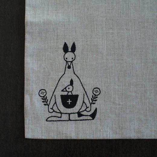 tenp04 リネン つつむ袋 大 カンガルーの袋