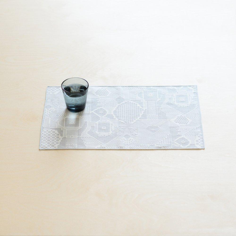 tenp02 福島の刺子織 ランチマット (オフホワイト)