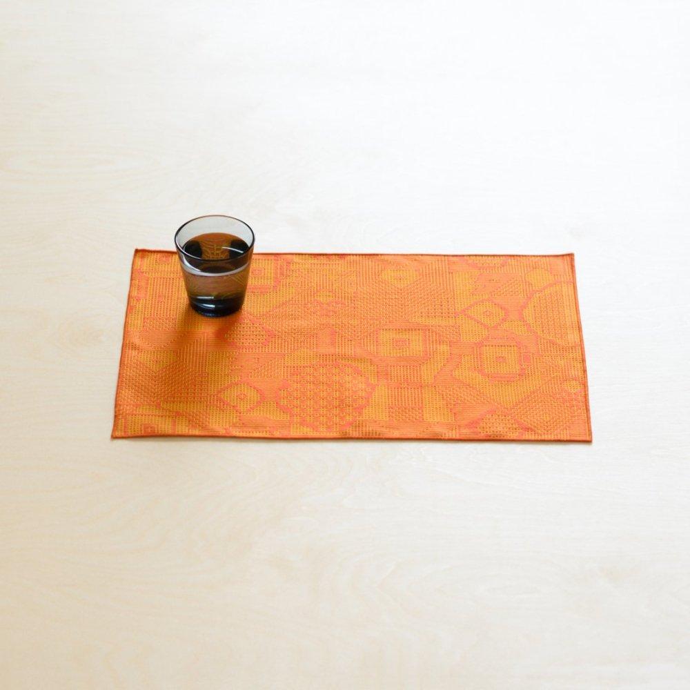 tenp02 福島の刺子織 ランチマット (レッド)