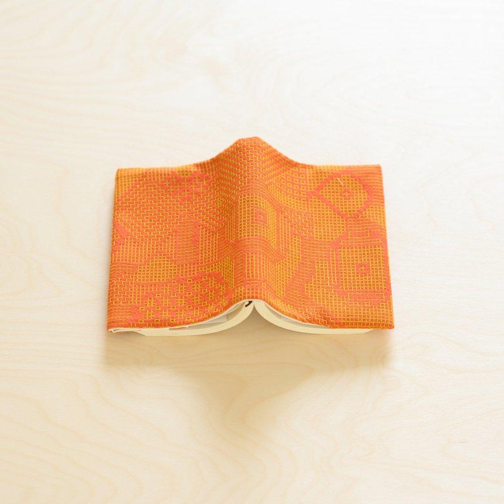 tenp02 福島の刺子織 ブックカバー (レッド)