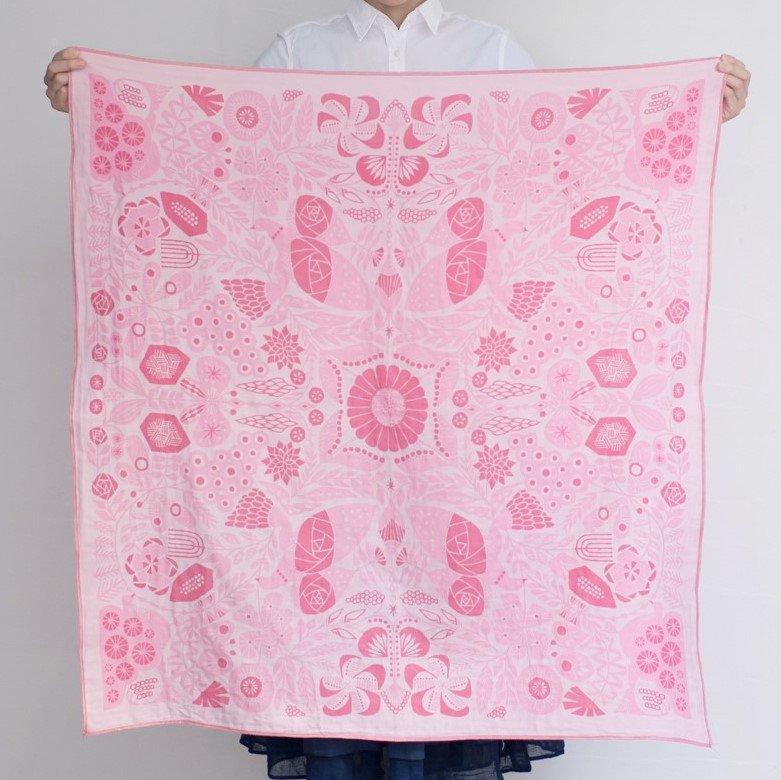 tenp01 正方形のダブルガーゼ Lサイズ(ピンク)