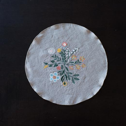 tenp04 リネン フラワーベース(春色)