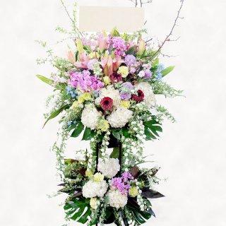 木瓜の和風なスタンド花(二段)【春限定】kp-017