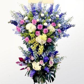 青系のスタンド花(二段)kp-019