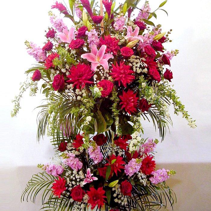 rp-003 春限定!優雅なスタンド花(二段) - スタンド花なら勝ち花.com