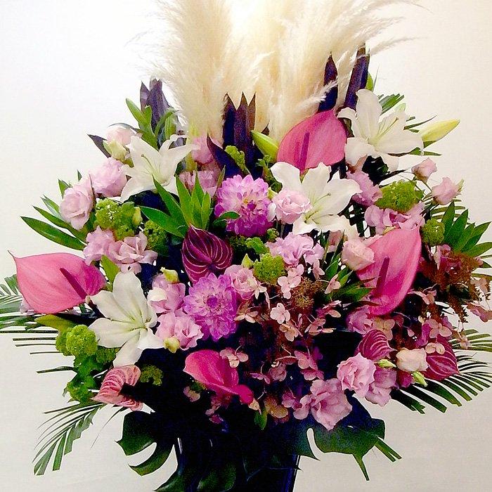 kp-007 秋限定!肌寒い秋に暖色系のスタンド花 - スタンド花なら勝ち花.com