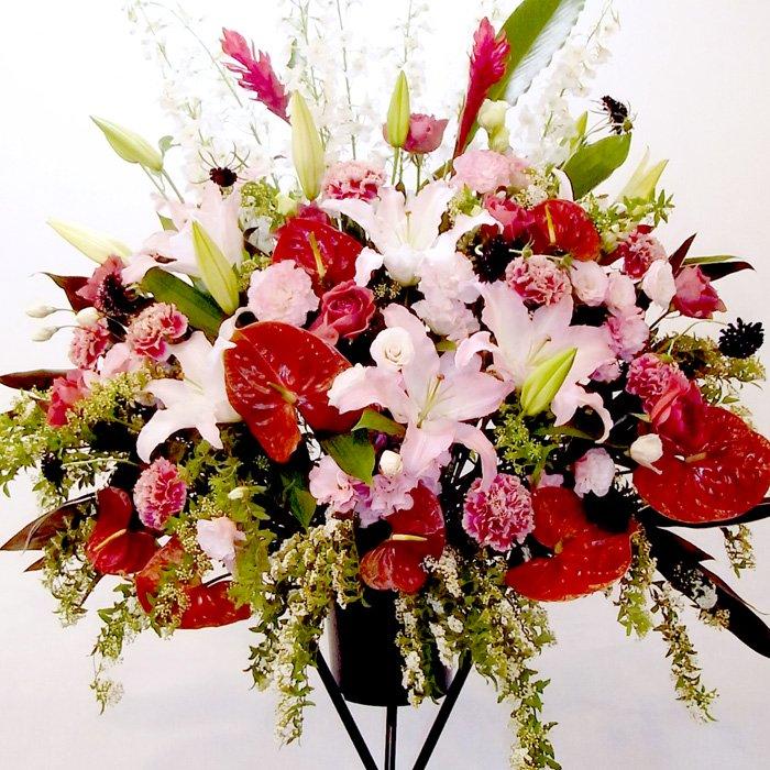 rp-004 セクシーな彼女の誕生日に!エレガントなスタンド花 - スタンド花なら勝ち花.com