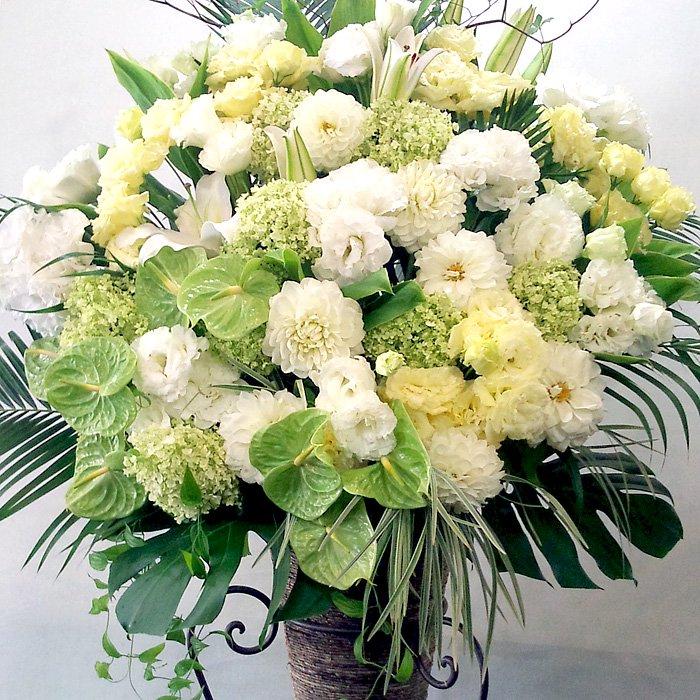 kp-012 淡いペールトーンのスタンド花 - スタンド花なら勝ち花.com
