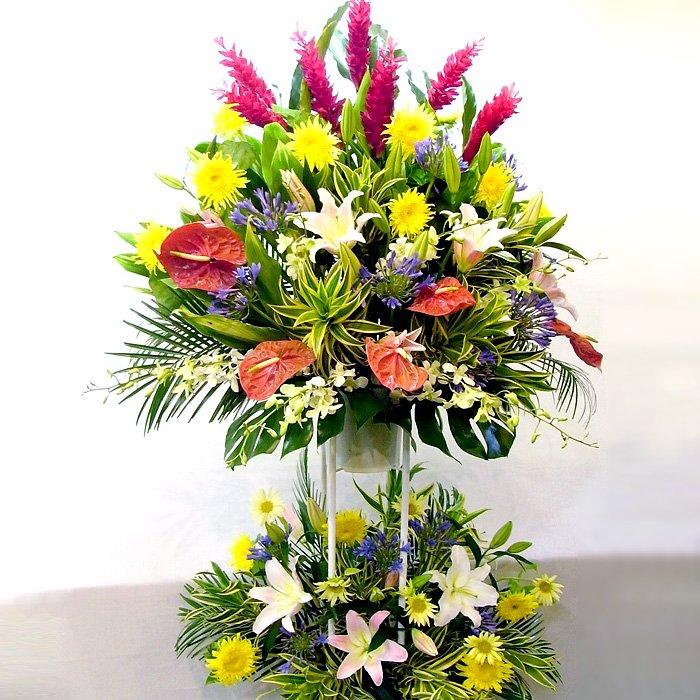 rp-008 夏限定!トロピカルフラワーが魅せる、ホットなスタンド花 - スタンド花なら勝ち花.com