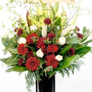 コーラルレッドの優雅なスタンド花 ep-004