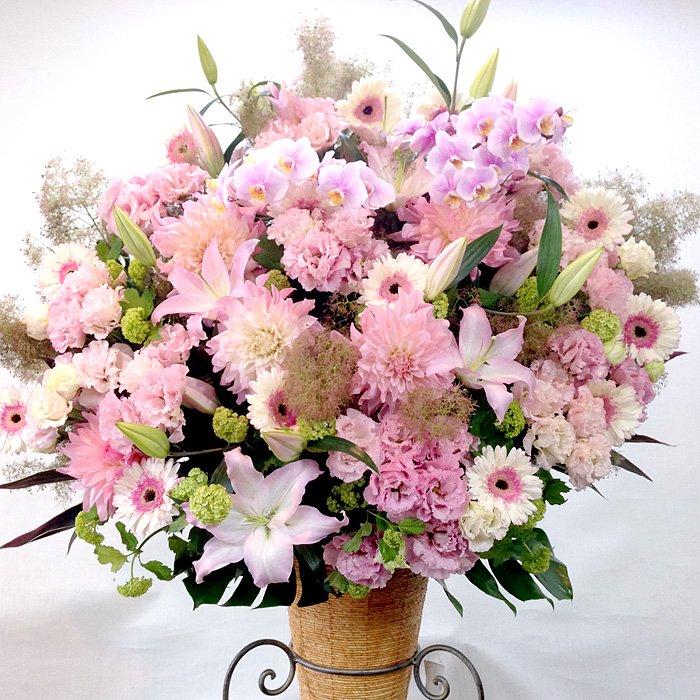 rp-011 ふわふわピンクにこだわったスタンド花 - スタンド花なら勝ち花.com