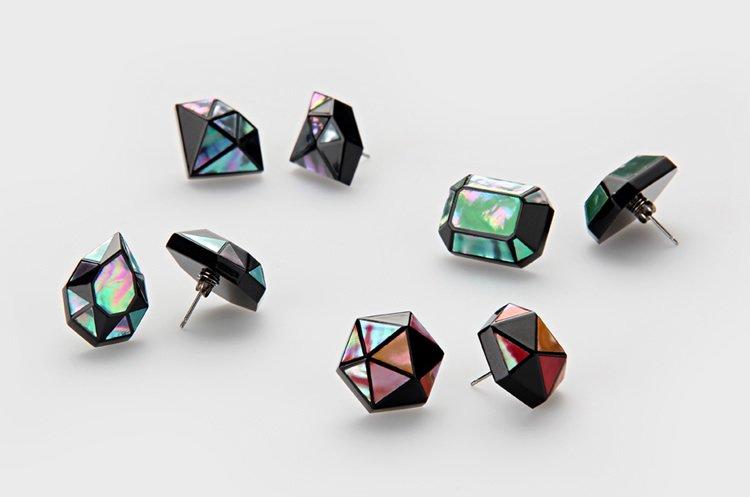 ジュエル 螺鈿ピアス Jewel -3D RADEN COLLECTION-