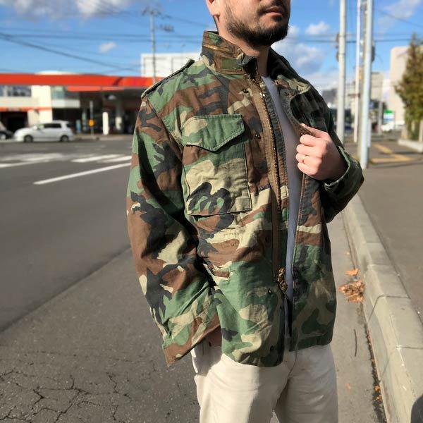 実物/米軍/M-65/迷彩/フィールドジャケット【S-S】アルファ社製/ウッドランドカモ/アメリカ軍/ALPHA/古着/USA製/アメリカ製/D118