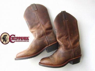 USA製Chippewa チペワ ウェリントン ブーツ 茶系/甲高26cm/D123