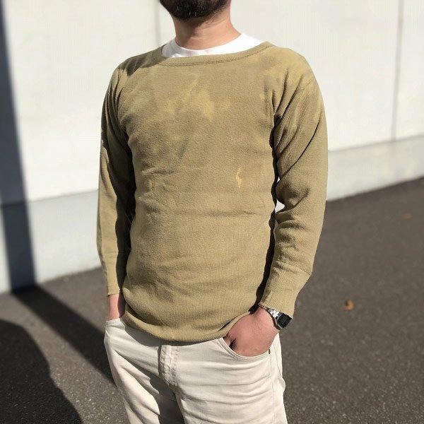 40's/実物/米軍/ウール/アンダーシャツ/長袖Tシャツ【S】アンダーウェア/インナーシャツ/USA製/アメリカ製/ビンテージ/D124