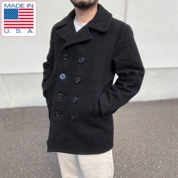 USA製/Schott/ショット/U.S.740N/ウール メルトン/Pコート【36】中綿/ピーコート/アウター/アメリカ製/ビンテージ/D102