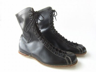 ビンテージ/BROOKS/ラインマン/モンキー ブーツ/黒【25.5cm】/D125