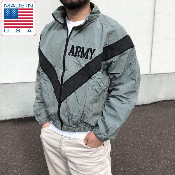 USA製/米軍/US ARMY/IPFU/ナイロン/トレーニング ジャケット/グレー系【S-S】ウィンドブレーカー/D126