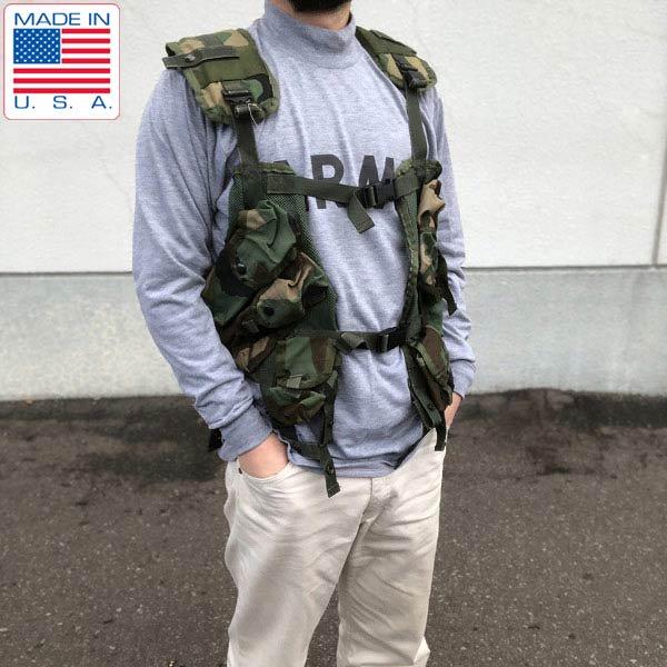 実物/米軍/US ARMY/迷彩/ベスト/タクティカル ロードベアリング/ウッドランド/ITLBV/アメリカ軍/サバゲー/USA製/ビンテージ/D128