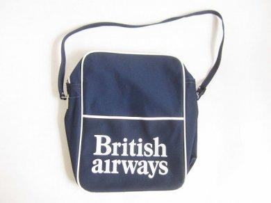 英国航空/ビンテージ/70's/British airways/エアラインバッグ/紺系/ショルダーバッグ/ブリティッシュ エアウェイズ/D128