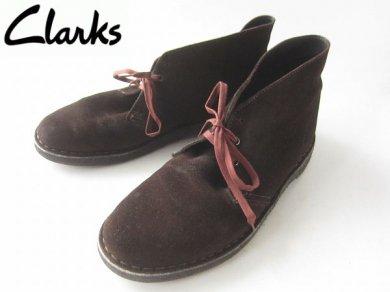 希少/英国製/Clarks/クラークス/デザートブーツ/スエード 【26cm】ダークブラウン系/D129