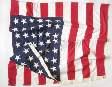 ビンテージ/〜50's/アメリカ国旗/48星/星条旗/48スター/コットン/店舗什器/インテリア/D128