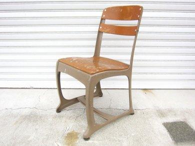 USA製/ビンテージ/Envoyチェア/子供椅子/スクールチェアー/木製×スチール製/アメリカ雑貨/インダストリアル/インテリア/店舗什器/D128