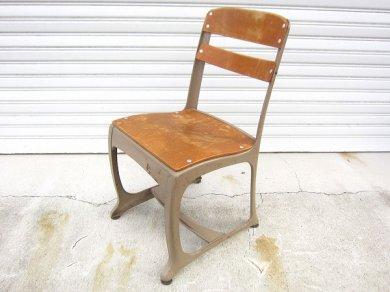 アメリカ/ビンテージ/Envoyチェア/子供椅子/スクールチェアー/木製×スチール製/USA製/インダストリアル/インテリア/店舗什器/D128