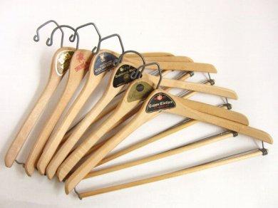 ビンテージ 木製 ウッド ハンガー 6本セット アンティーク/D122