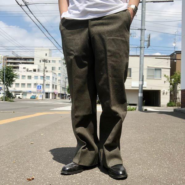 ビンテージ/40's/ウールパンツ/緑系/ミリタリー系/PERFECT TROUSERS/D130