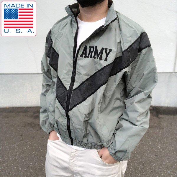 USA製/実物/米軍/US ARMY/IPFU/ナイロン/トレーニング ジャケット/グレー系【S-R】ウィンドブレーカー/D129