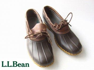 USA製/L.L.Bean/ビーンブーツ 革紐 モカシン【幅広29.5cm】ガムブーツ/LLビーン/D123