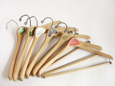 アンティーク 木製 ウッド ハンガー 6本セット /店舗什器D122