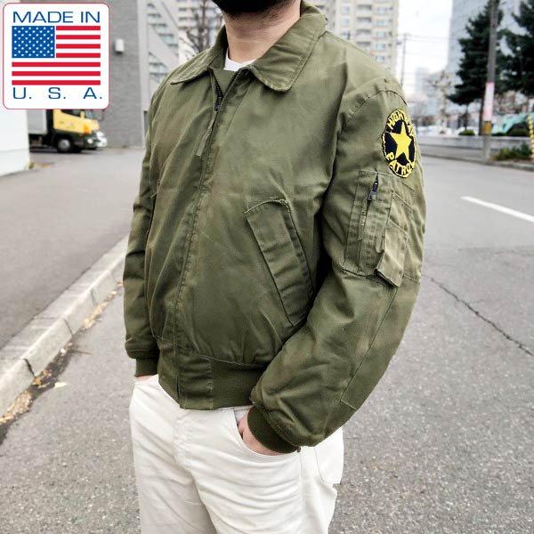 90's/USA製/米軍/US ARMY/CVC/耐火/アラミド/ノーメックス/ジャケット【M-R】緑系/アメリカ軍物/古着/米国製/ビンテージ/D132
