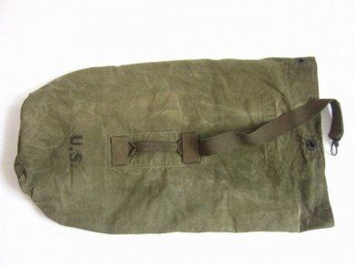 希少/40's/実物/米軍/キャンバス ダッフルバッグ/緑系/店舗什器やリメイクなどにも/ビンテージ/D132