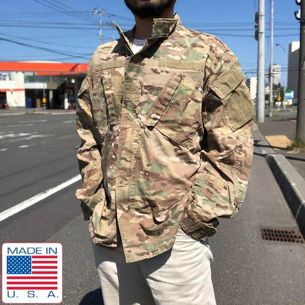 実物/米軍/US ARMY/ACU/マルチカム/ジャケット【M-L】アーミー コンバット ユニフォーム/ミリタリージャケット/サバゲー/D132