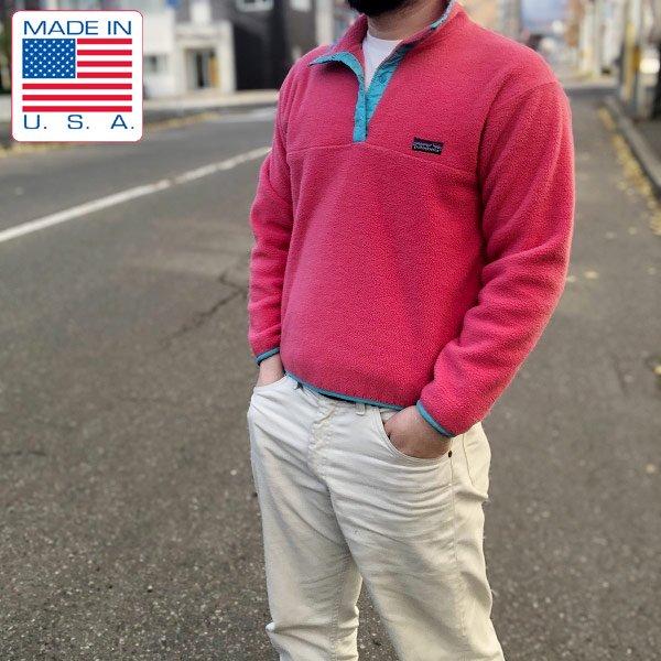 USA製/80's/三角タグ/パタゴニア/フリース/スナップT/ピンク系【メンズXS程度】プルオーバー/古着/patagonia/ビンテージ/D134