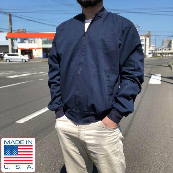 USA製/RED KAP/チーム ジャケット/ソリッド/紺系【M】無地/レッドキャップ/アメリカ製/米国製/D135
