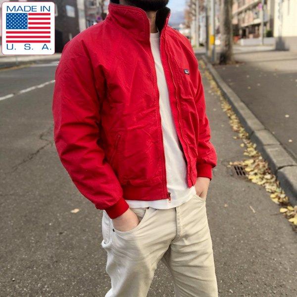 80's/USA製/パタゴニア/三角タグ/ナイロンシェル×内フリース/ジャケット/赤系【メンズXS程度】ビンテージ/D133