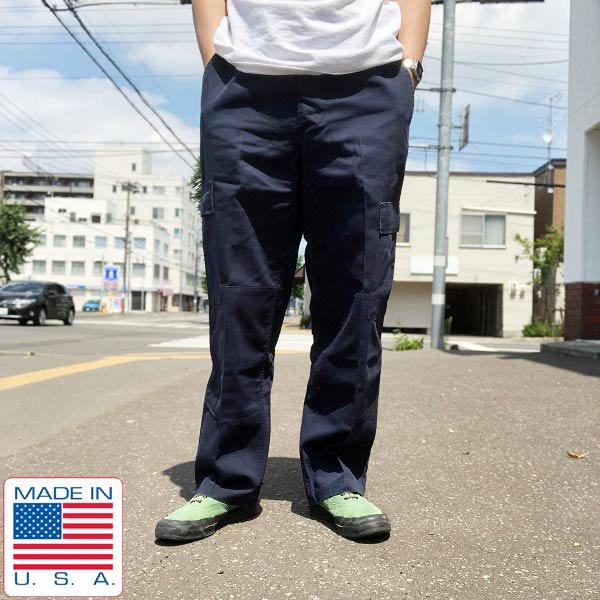 USA製/米軍PX品/リップストップ/カーゴパンツ/紺系【M-R】ミリタリーパンツ/アメリカ製/D124