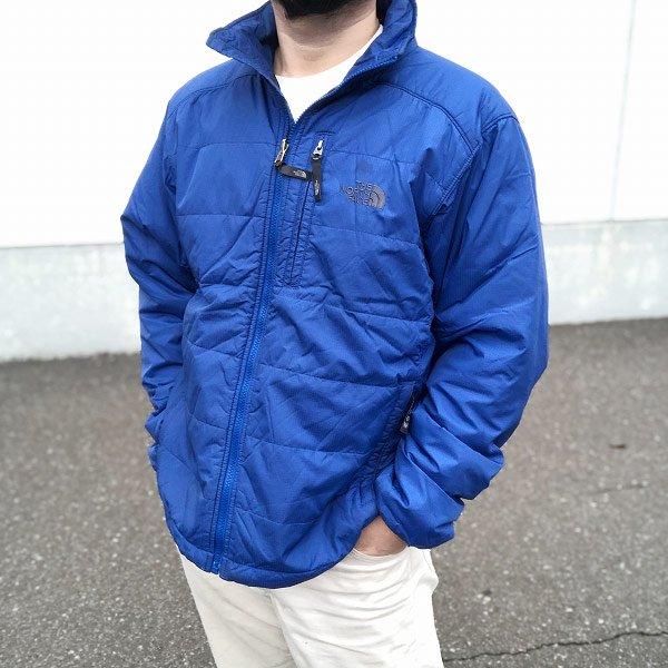 ノースフェイス/中綿/キルティング ナイロン ジャケット/青系【M】 ジャンパー/ブルー/アウター/フルジップ/STOW/D135-18-0014X