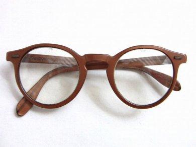 ビンテージ/1940's〜1950's/USA製/WILSON/メガネフレーム/ウェリントン/ボストン/眼鏡/めがね/ウィルソン/D136