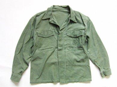 ビンテージ/50's/実物/米軍/USMC/P58/M58/ユーティリティシャツ【M程度】比翼ボタン/50年代/D137W