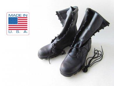 《新品》ビンテージ/80's/USA製/ALTAMA/ミリタリーブーツ/黒【9.5W/幅広27.5cm】レースアップ/サバゲー/デッドストック/D137