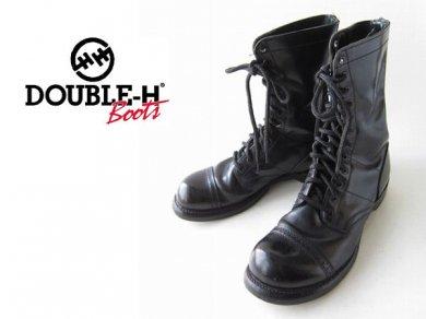 DOUBLEH/HH/12ホール/ジャンプブーツ/黒【26cm】靴/ミリタリーブーツ/サバゲー/D137