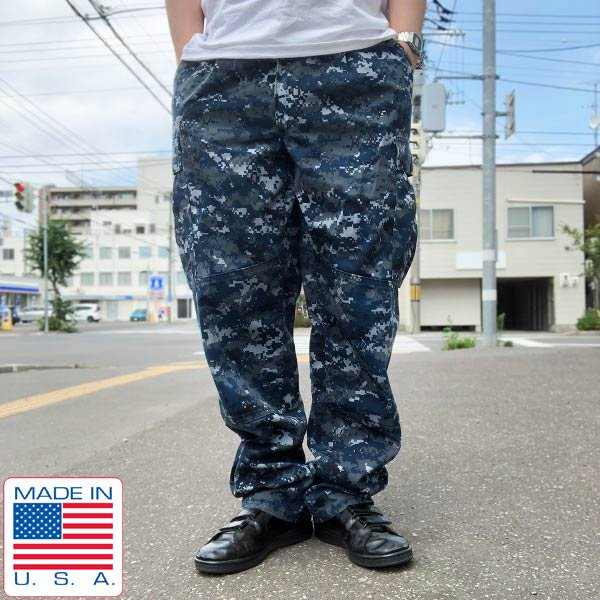 USA製/実物/米軍/US NAVY/NWU/デジカモ/迷彩/カーゴパンツ【M-R】ミリタリーパンツ/USN/サバゲー/アメリカ製/D137