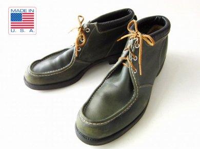 ビンテージ/60's〜70's/USA製/Uチップ/ワークブーツ/緑系【29cm】アメリカ製/ハウス型ユニオン/大きいサイズ/メンズ/靴/D137