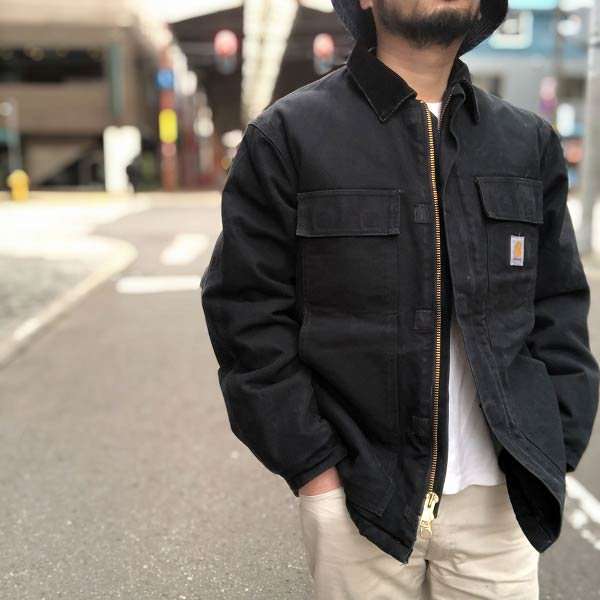 carhartt/カーハート/アークティック/トラディショナル/コート/黒【M-R相当】コットン/ダック/ジャケット/D138