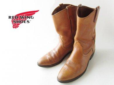 【RED WING】ビンテージ/80's/USA製/レッドウィング/ローパー/ペコスブーツ/茶系【11D/29cm】ウエスタンステッチ/靴/大きいサイズ/D138